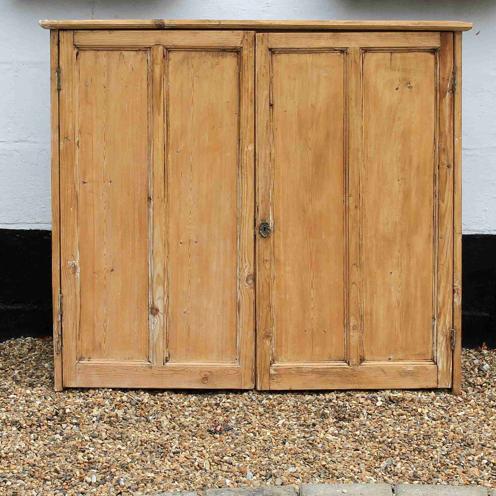 Vintage Antique Pine Wall Hanging Cupboard-Origin Antiques