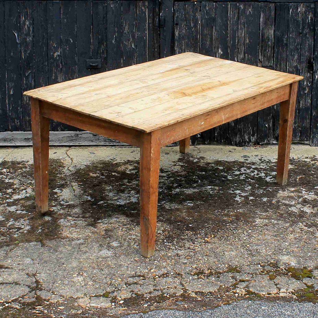 Vintage Rustic Pine Country Kitchen Dining Table-Origin Antiques