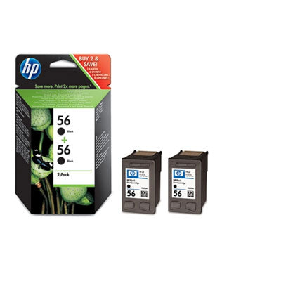HP 56 2-pack Black Inkjet Print Cartridges