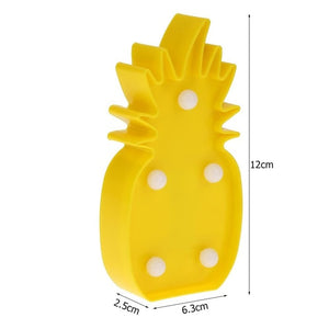 LED Cactus Pineapple Mermaid Tail Night Light Indoor Wall Lamp