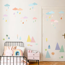 Load image into Gallery viewer, Rainy Cloud Removable Wall Stickers Wall Decal
