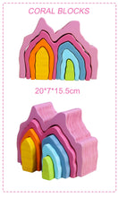 Load image into Gallery viewer, Kids Toys Wooden Blocks Rainbow Stacker Kids Nursery Room Accessories