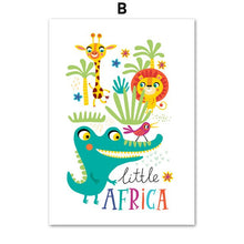 Load image into Gallery viewer, Afrika Theme Canvas Prints Wall Art