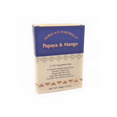 [African Formula] Papaya & Mango Black Soap