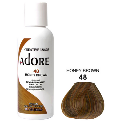[Adore] Semi Permanent Hair Color - Honey Brown (48)
