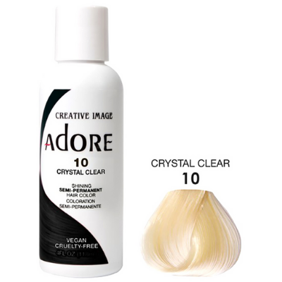 [Adore] Semi Permanent Hair Color - Crystal Clear (10)