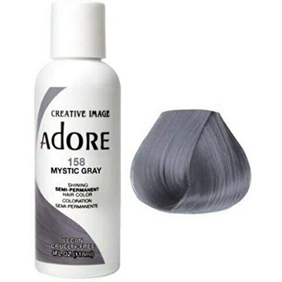 [Adore] Semi Permanent Hair -  Mystic Gray (158)