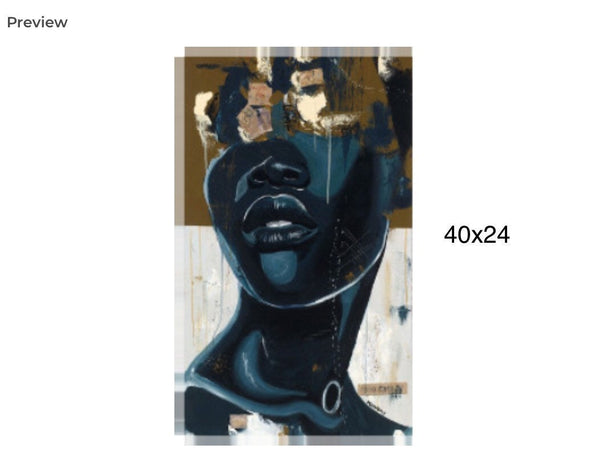 "African American art- ""Queen of the Sea"" canvas print gallery wrap free shipping"