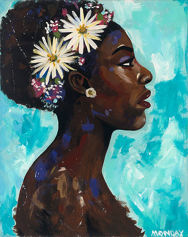 African American Art Canvas Print- RISE #4- unframed, Free shipping