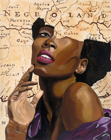 "African American Art ""Princess of 1741"" canvas print gallery wrap free shipping US only"