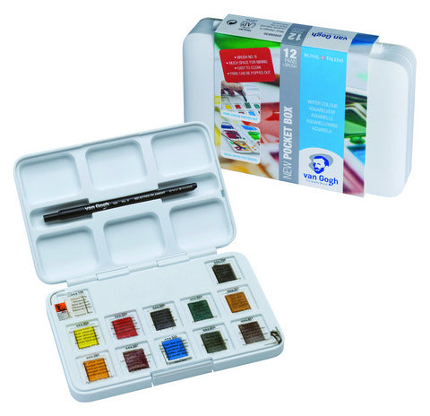 Van Gogh Watercolor Pocket Box Set