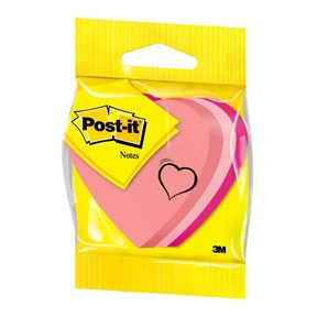 "Post-it Notes 70x70 ""heart"" neon 225 sheets"