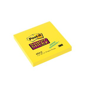 654S Super Sticky Notes 76x76 yellow (12)