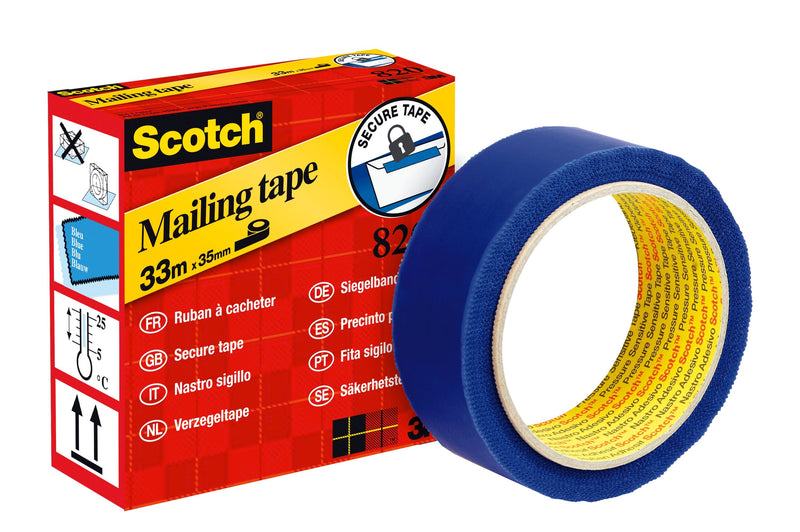 Mailing tape secure blue 35mmx33m