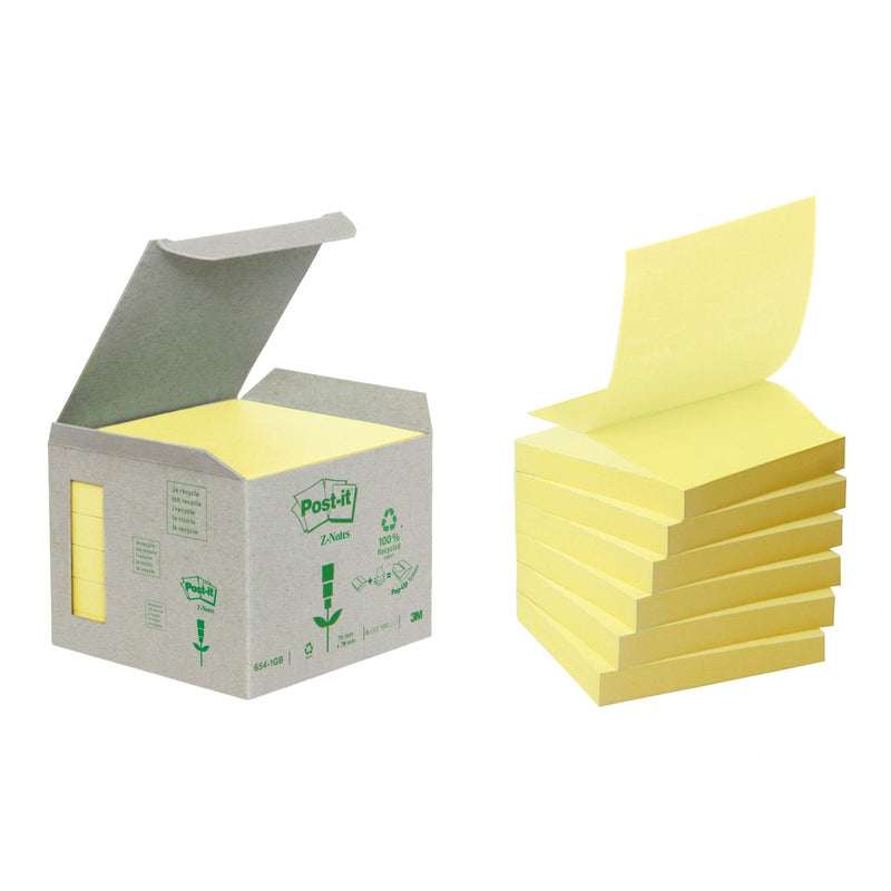 Post-it Z-Notes 76x76 recycled yellow (6)