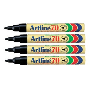 Artline 70 Permanent marker Blister-pack black (4)