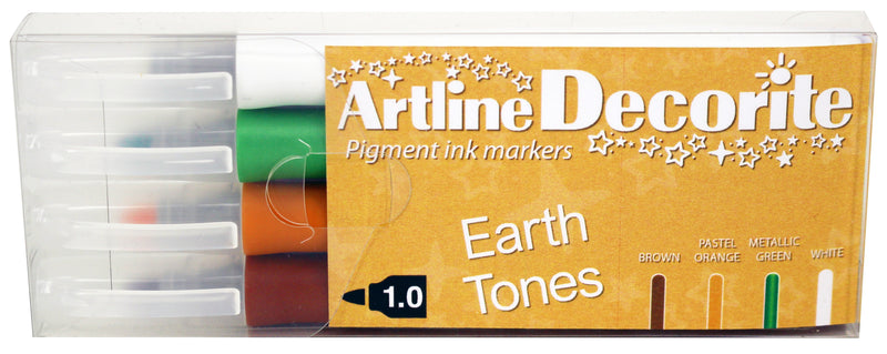 Artline Decorite bullet Earth 4-pack