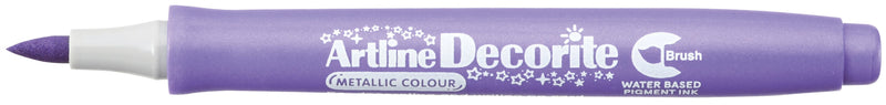 Artline Decorite Brush metallic purple