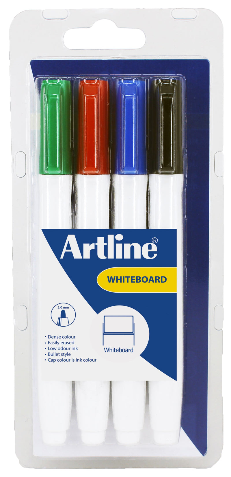 Artline Supreme Whiteboard 4-Pack Ass