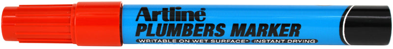 Artline plumbers marker red