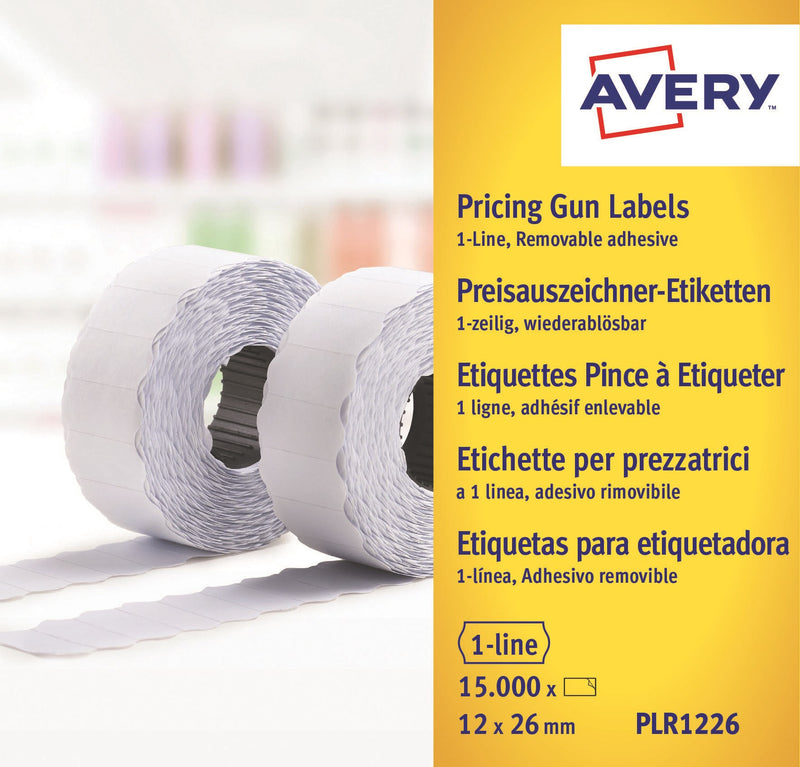 Labels 26x12 G1 White 10-rolls