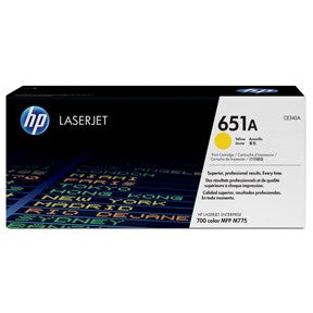 Color LaserJet 651A yellow toner