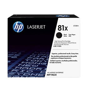 LaserJet 81X toner cartridge