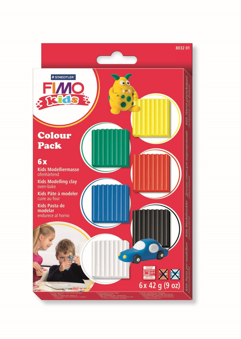 FIMO kids set with 6 assorted colours