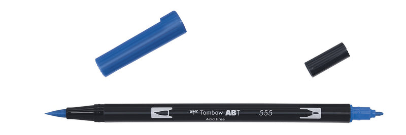 Tombow ABT Dual Brush 555 ultramarine