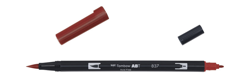 Tombow ABT Dual Brush 837 wine red