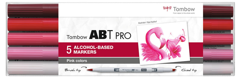 Marker alcohol ABT PRO Dual Brush 5P-5 Pink colours (5)