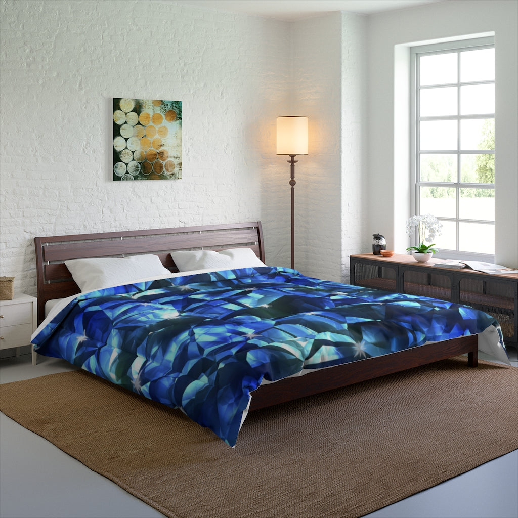 Blue Crystal Pattern Comforter