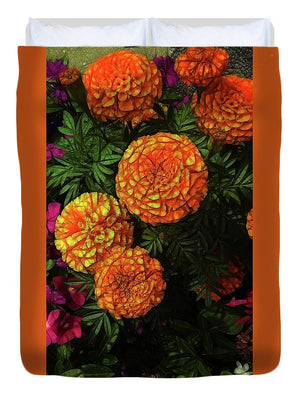 Large Marigolds - Duvet Cover