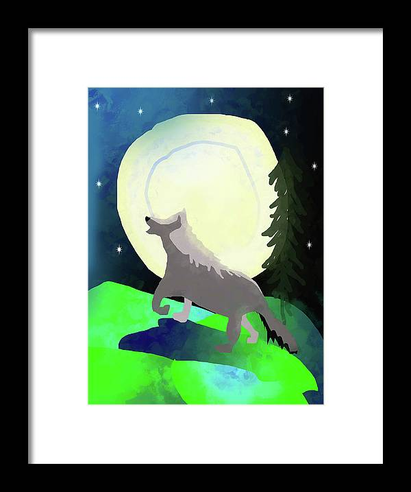 Wolf Moon - Framed Print
