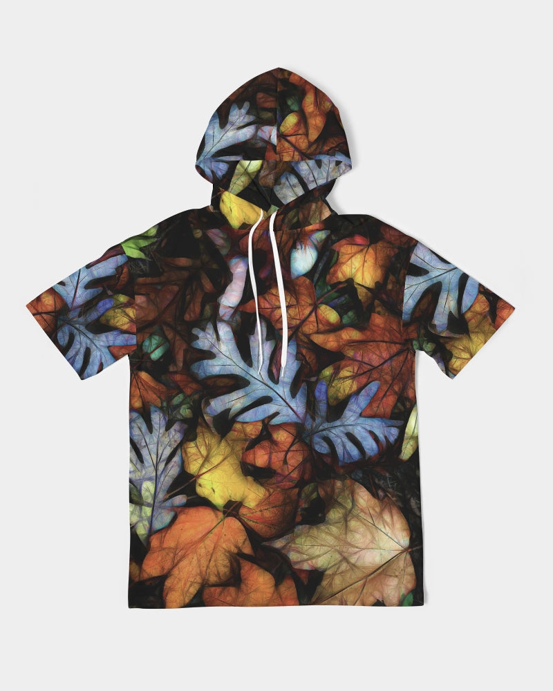 Mid October Leaves Men's Premium Heavyweight Short Sleeve Hoodie
