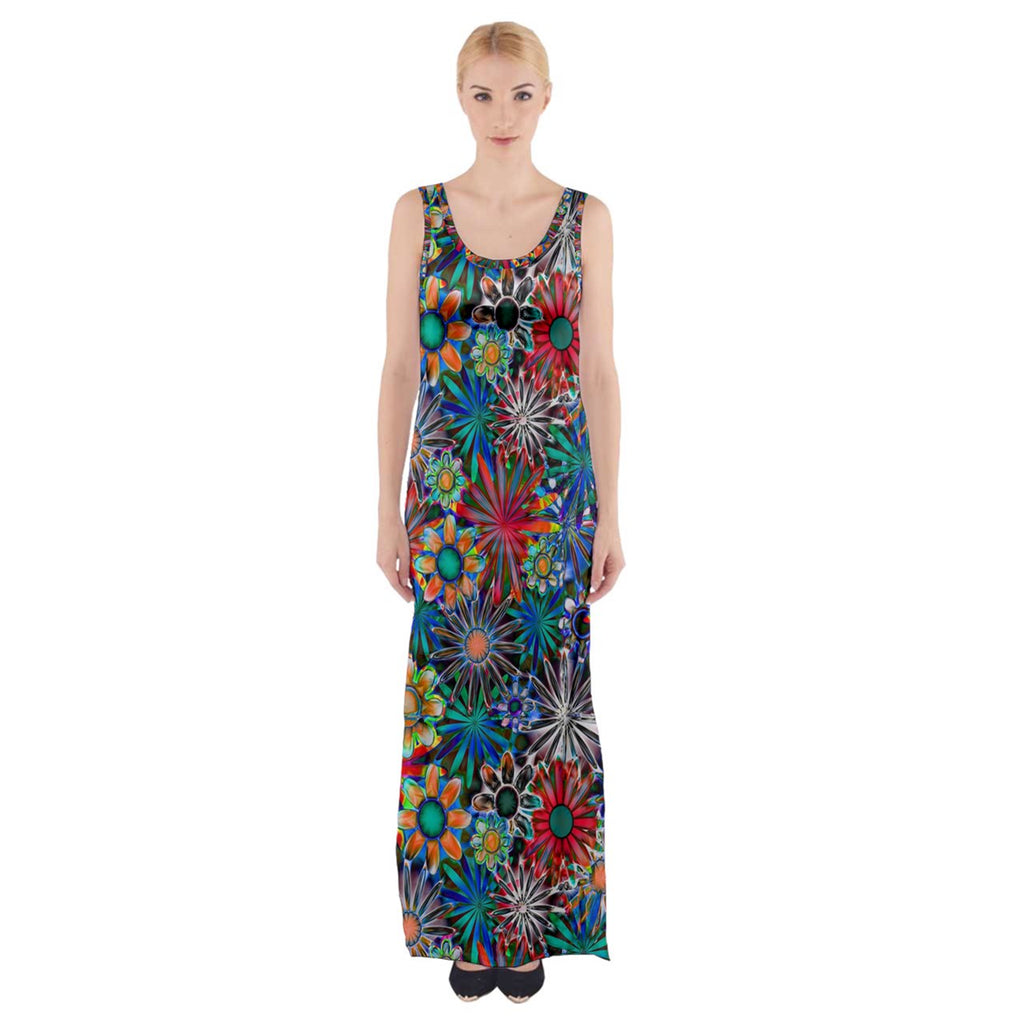Daisy Garden Thigh Split Maxi Dress