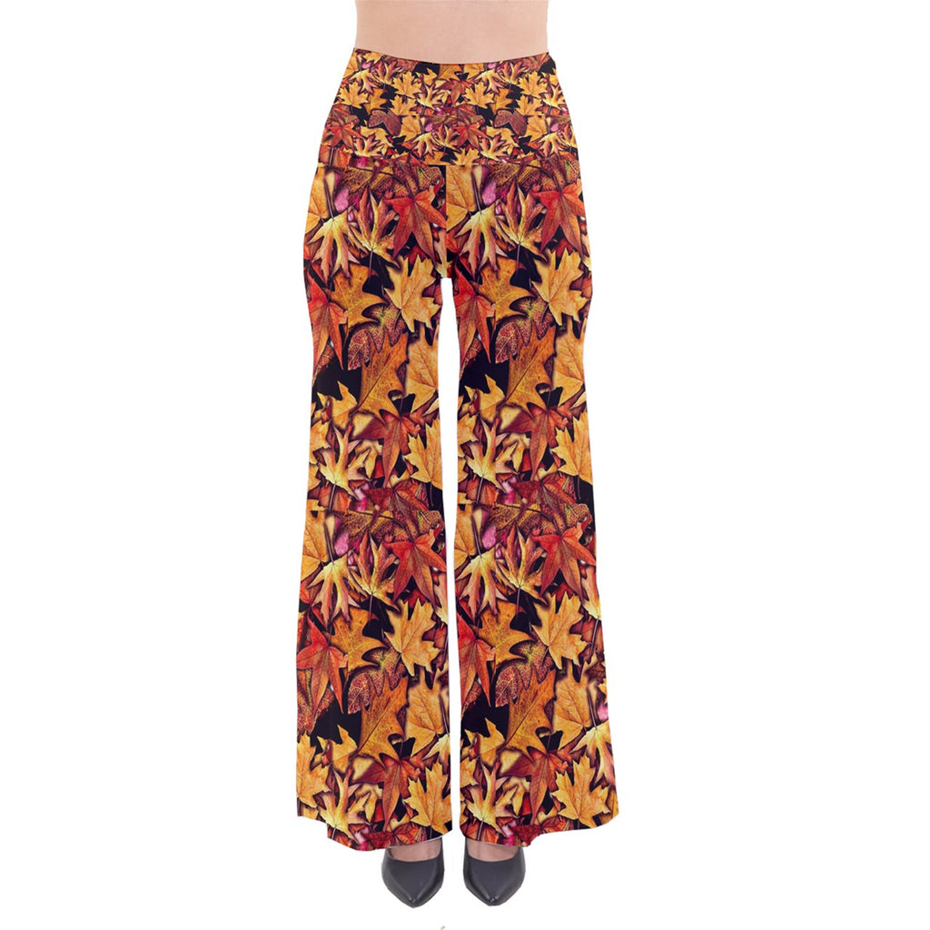 Fall Leaves Pattern So Vintage Palazzo Pants