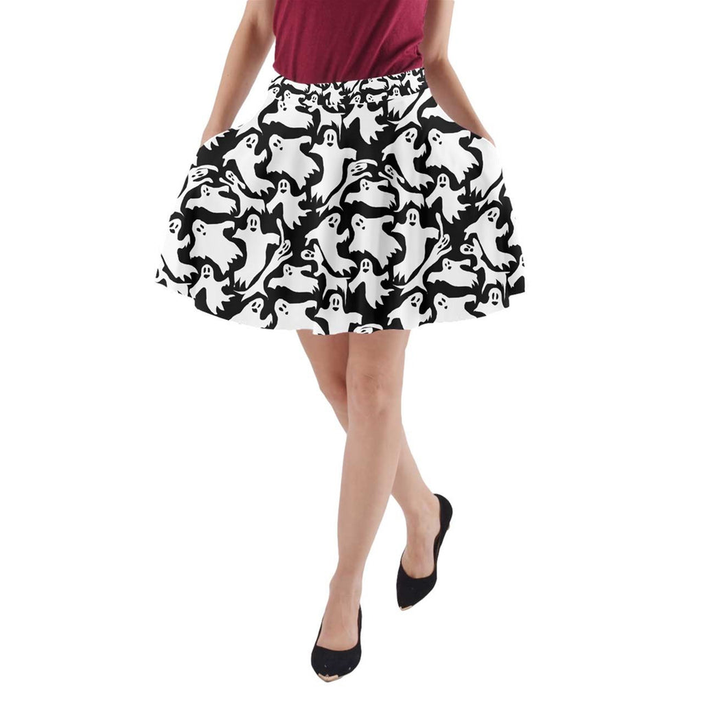 Ghosts A-Line Pocket Skirt