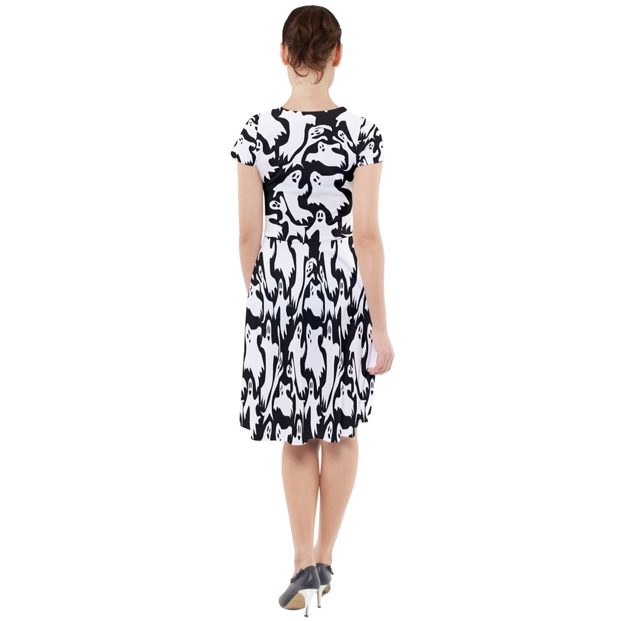 Ghosts Cap Sleeve Midi Dress