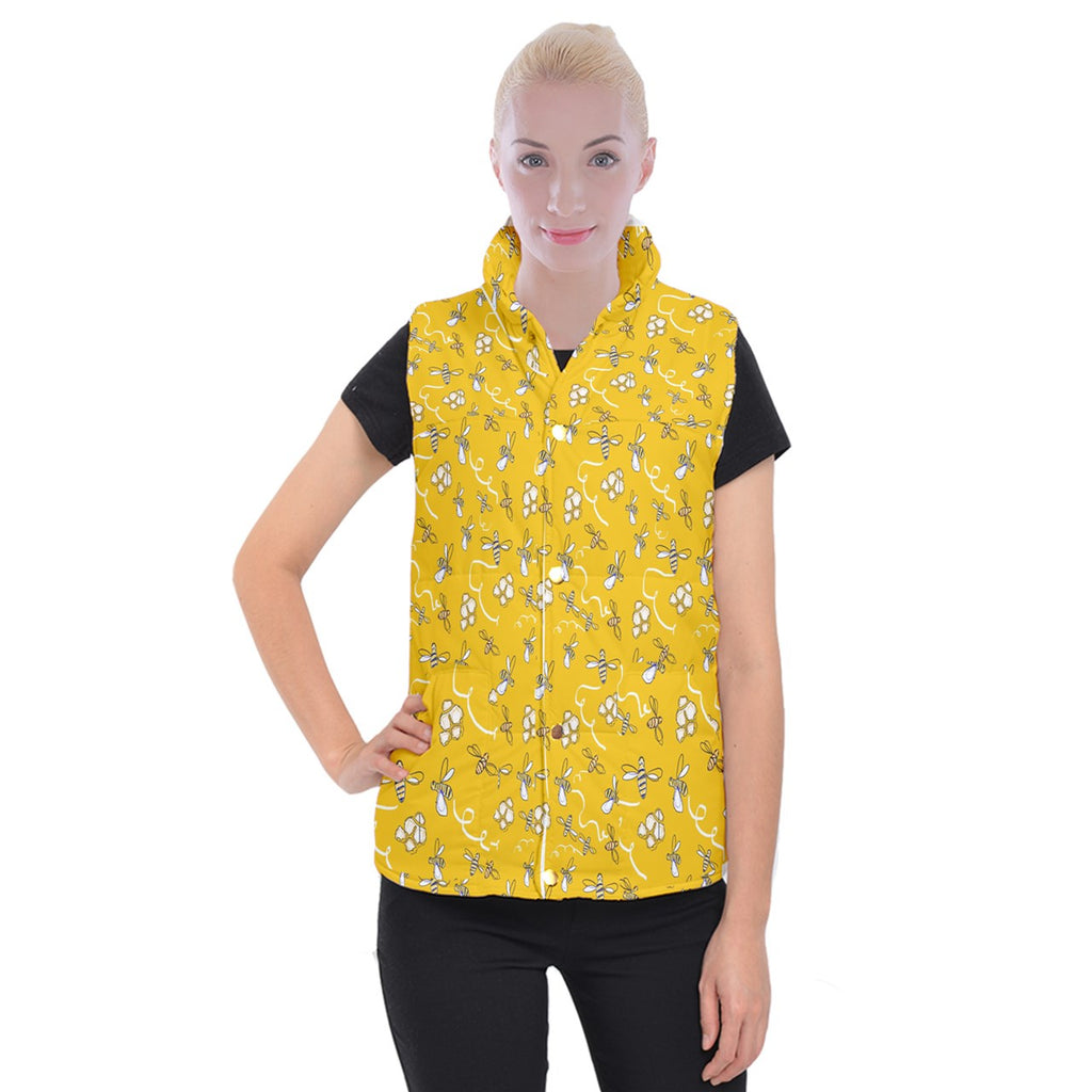 Honeybees Women's Button Up Vest