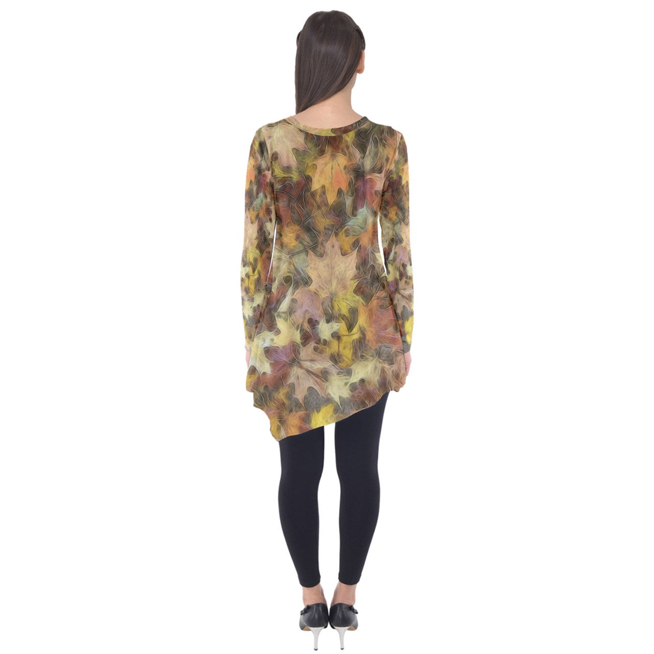 Late October Leaves Light Long Sleeve Tunic