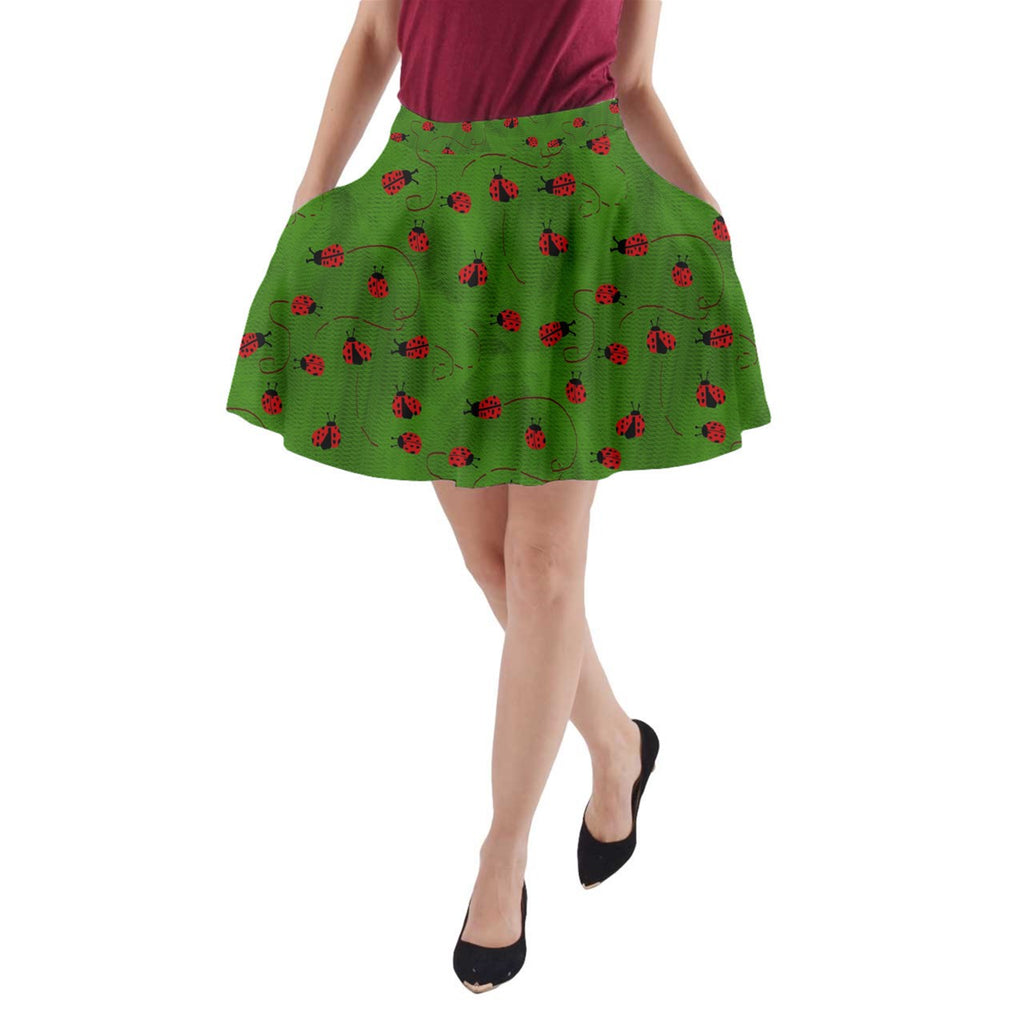 Ladybugs  A-Line Pocket Skirt