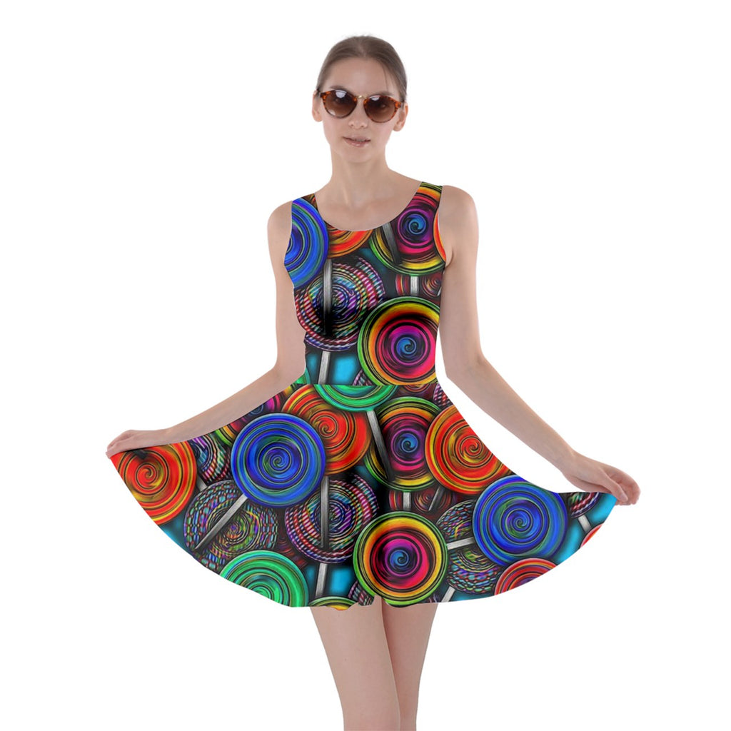 Colorful lolipops Skater Dress