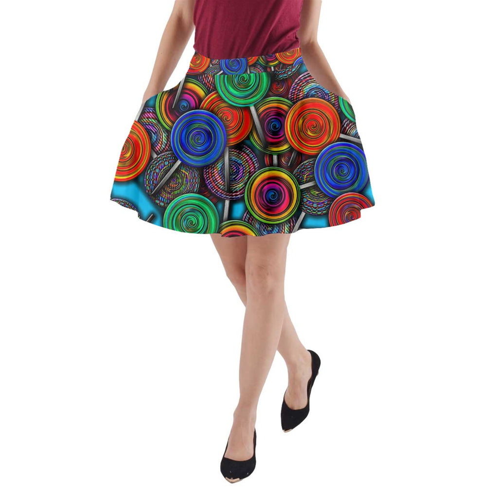 Colorful lolipops A-Line Pocket Skirt