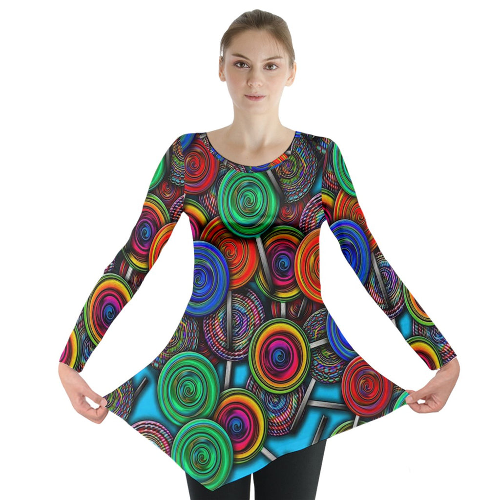 Colorful lolipops Long Sleeve Tunic