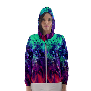 Crash and Yearning Women's Hooded Windbreaker