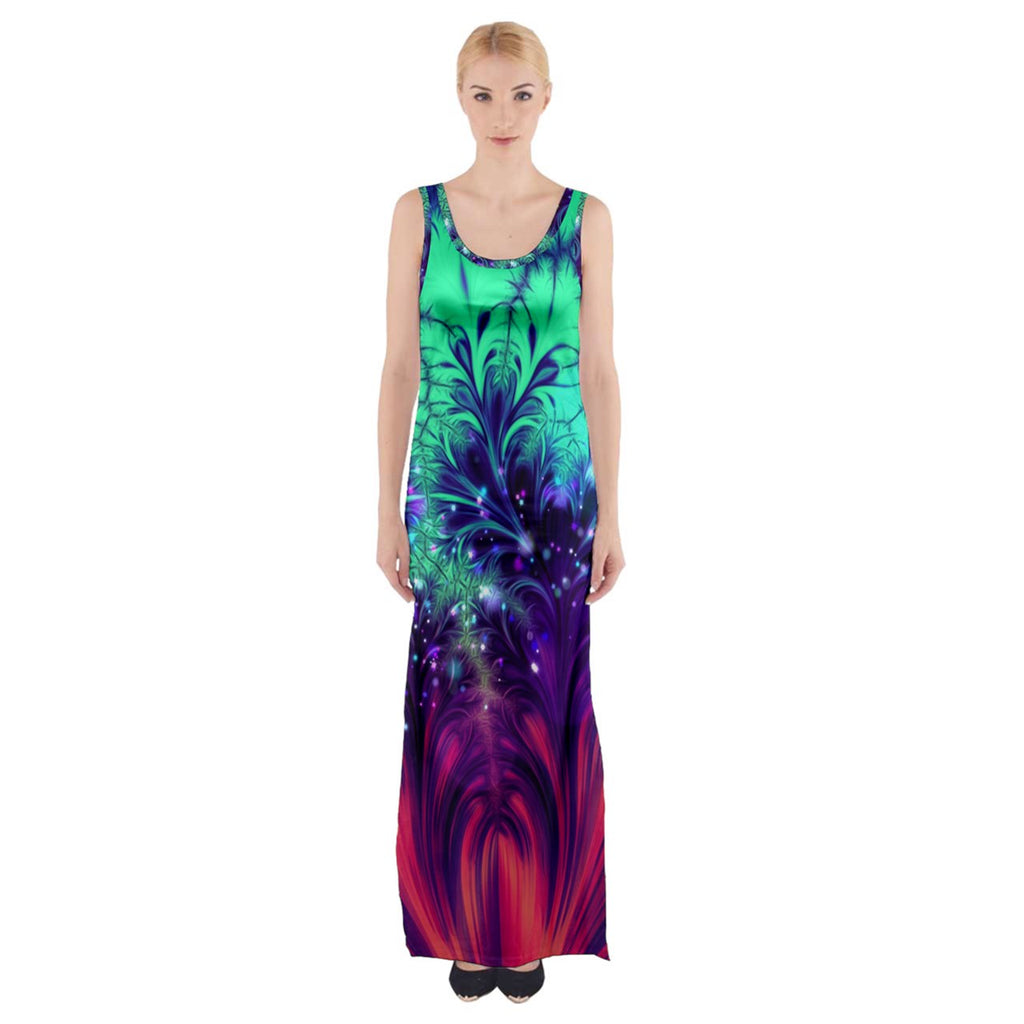 Crash and Yearning Thigh Split Maxi Dress