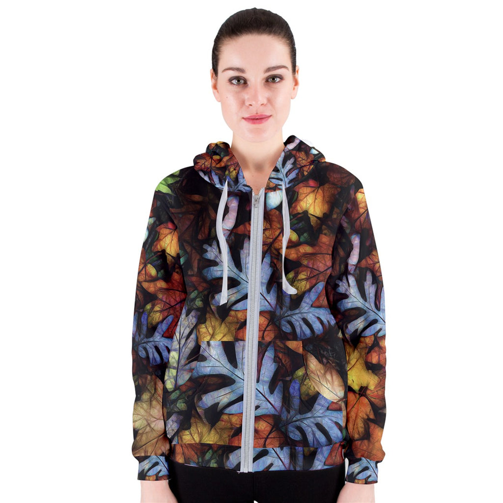Mid October Leaves Women's Zipper Hoodie