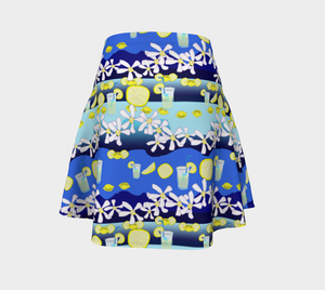 Lemonade Pattern Flare Skirt