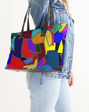 Crazy Color Abstract Stylish Tote